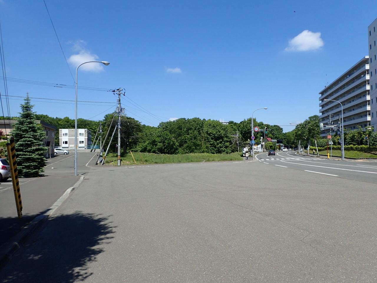 滝野上野幌自転車道路上野幌側終点