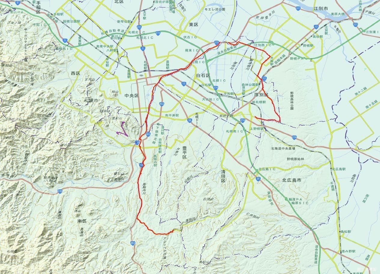 滝野上野幌自転車道路