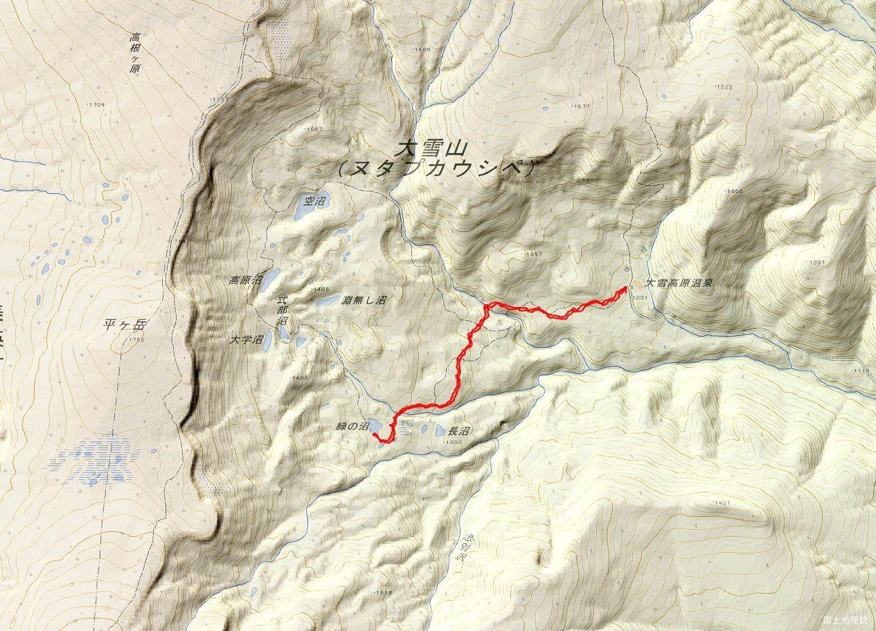高原温泉GPSトラック