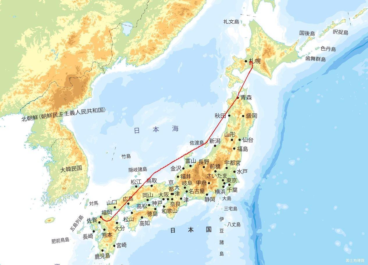 FUK-CTS航跡