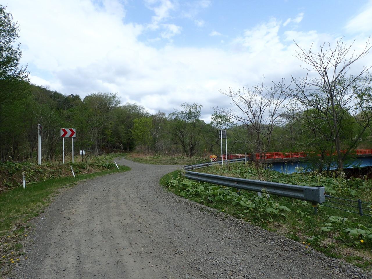未舗装道道・林道分岐