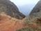 崩落した崖