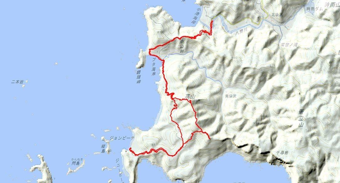 ジョンビーチ・高山GPSトラック