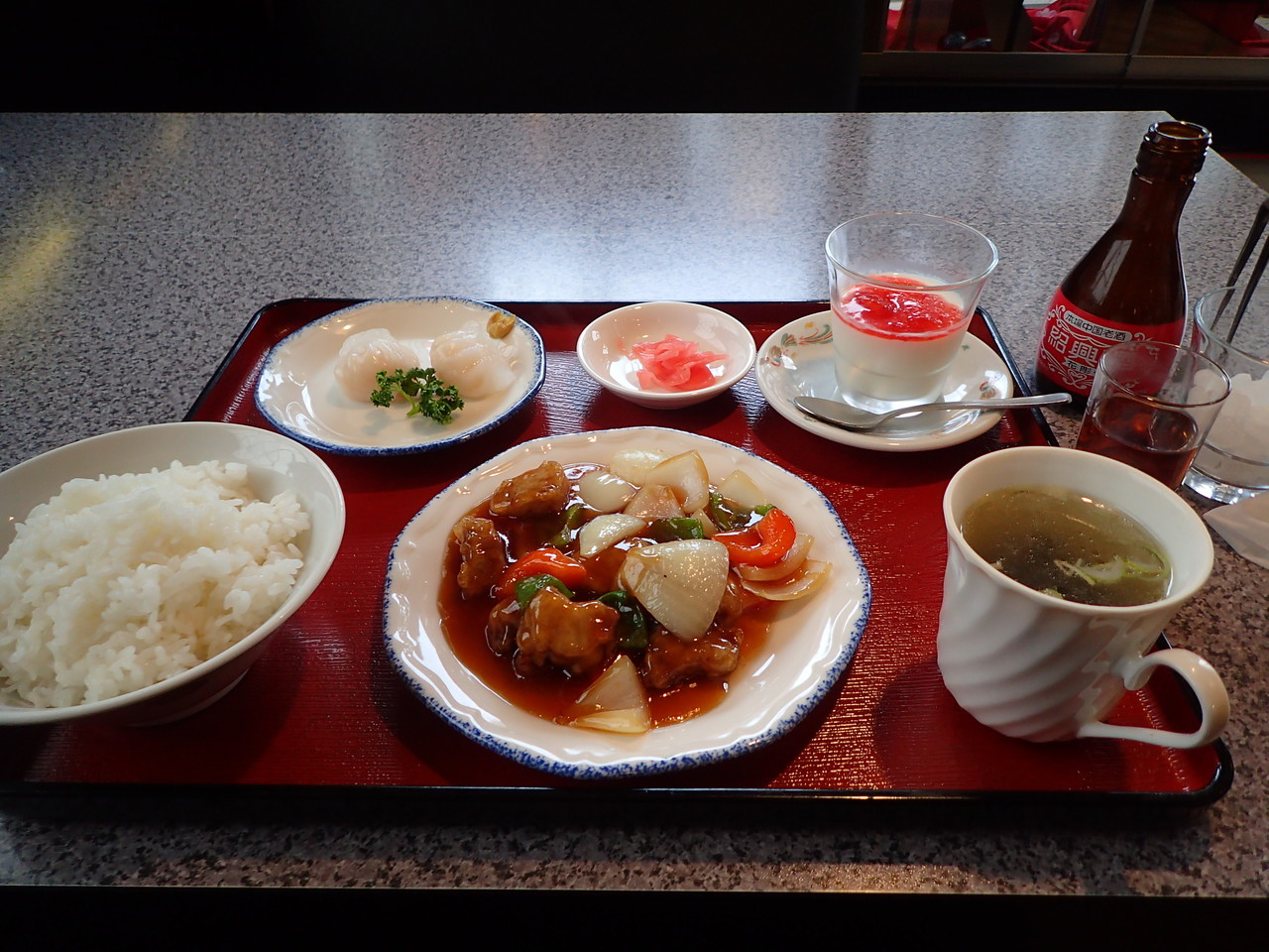 チャイニーズレストラン美華 酢豚セット
