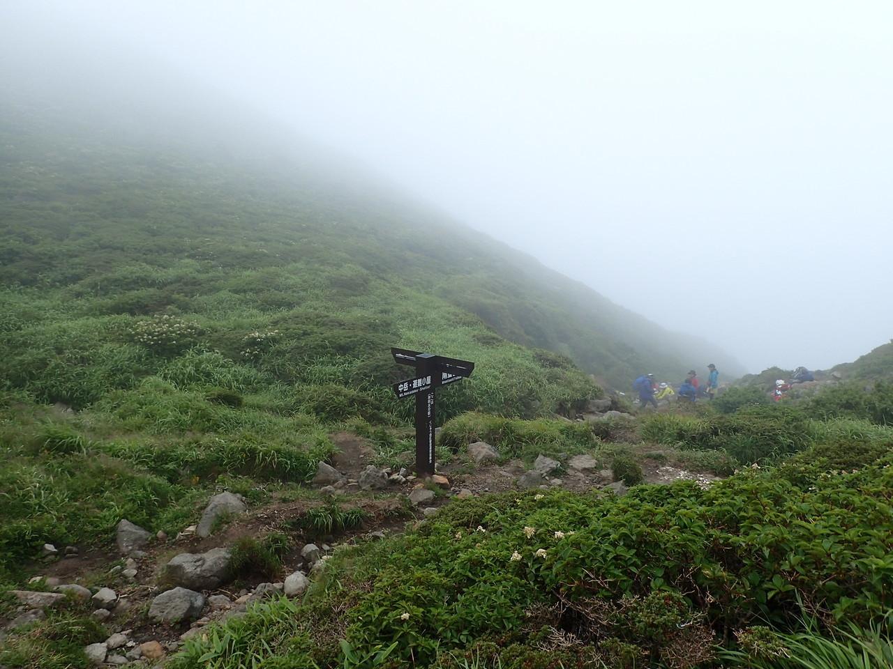 南登山口分岐