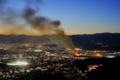 「大文字火床から見る火事」29回京都新聞写真コンテスト佳作