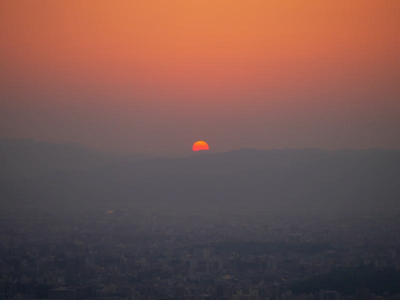 京都新聞写真コンテスト 紅の落日