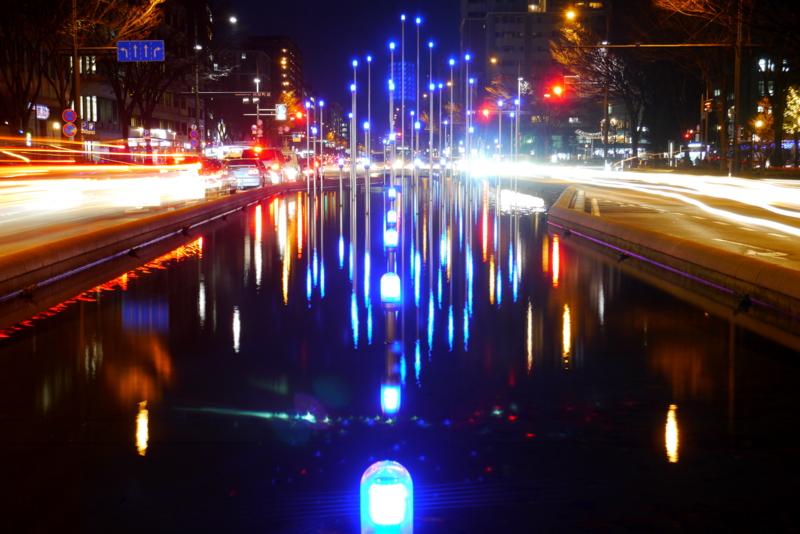 京都新聞写真コンテスト 聖夜の御池通り