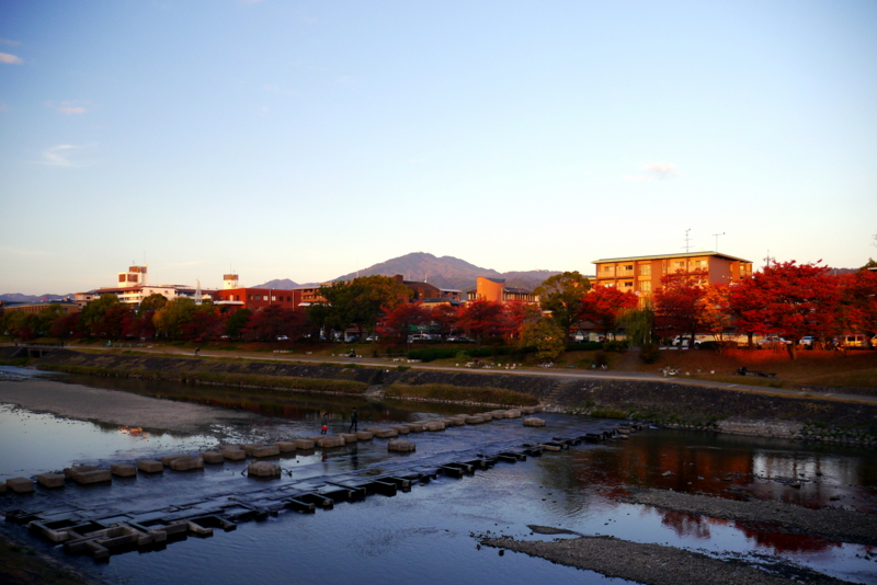 京都新聞写真コンテスト 西日に染まる鴨川べり
