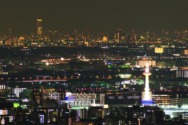 京都新聞写真コンテスト 京都タワーとあべのハルカス