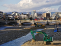 京都新聞写真コンテスト 七条大橋と河川工事