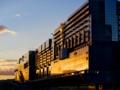 京都新聞写真コンテスト 夕日に染まる京都駅ビル