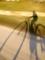 京都新聞写真コンテスト 疾走する影法師