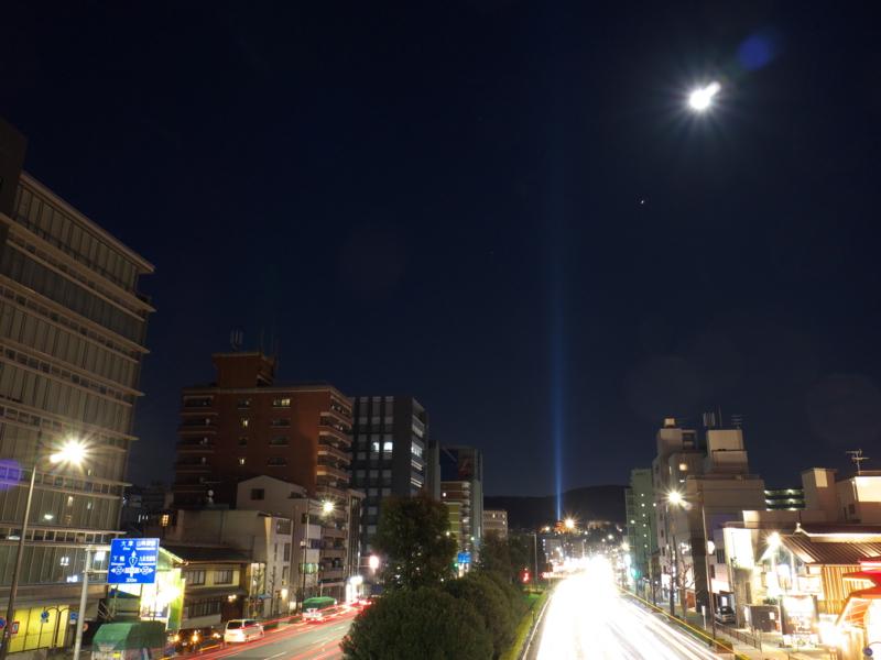 京都新聞写真コンテスト 天地を貫く