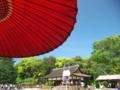 京都新聞写真コンテスト 櫓の上から勝敗判定