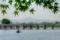 京都新聞写真コンテスト 渡月橋から比叡山を望む