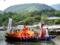 京都新聞写真コンテスト 小倉山と雅な舟遊び