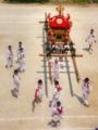 京都新聞写真コンテスト 下御霊神社神輿巡幸休憩中