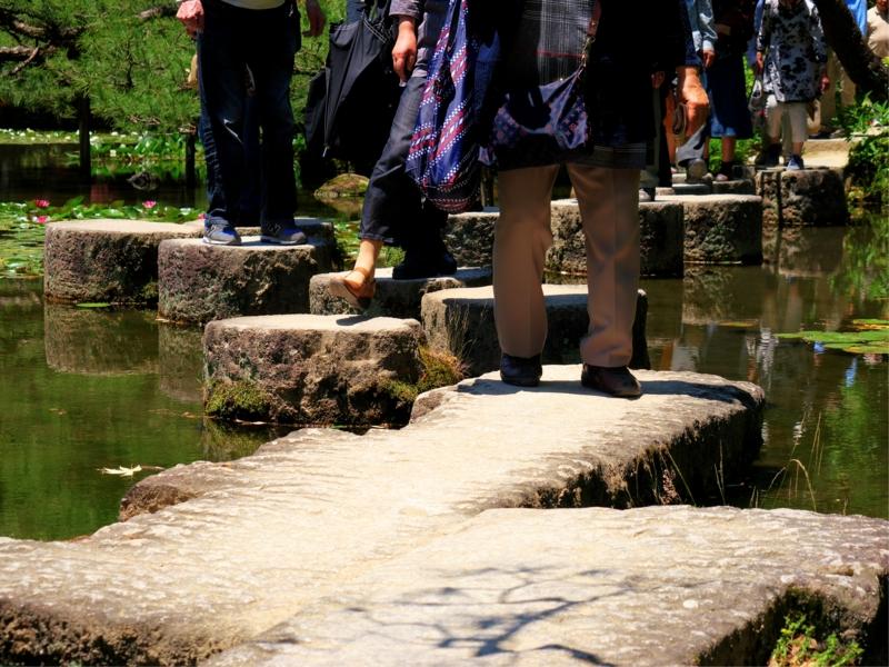 京都新聞写真コンテスト 立ち止まらずに渡ってください