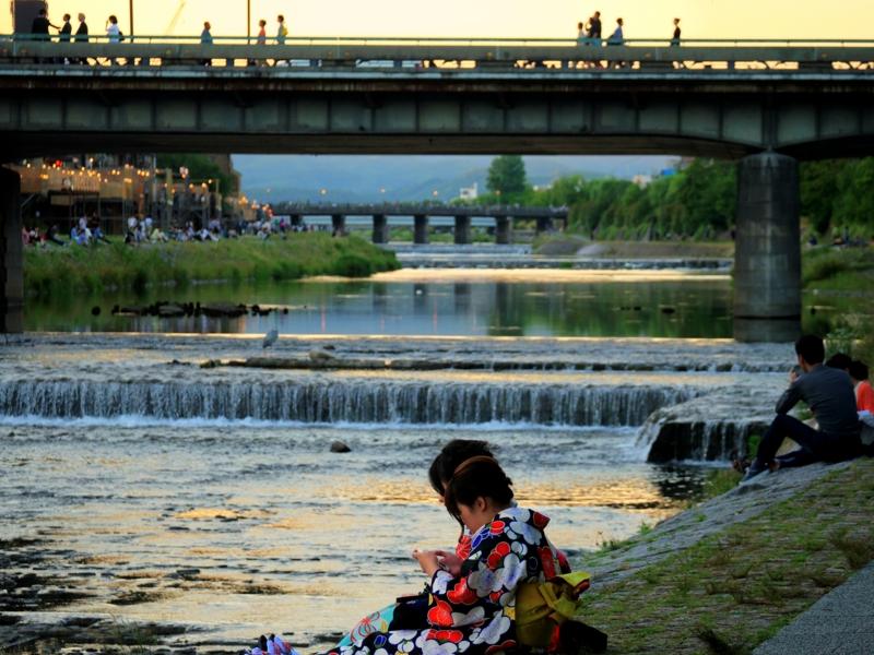 京都新聞写真コンテスト 鴨川の夕暮れ