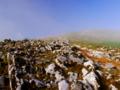 頂きに続くカスルト地形