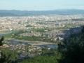小倉山からの眺め@嵐山