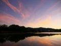 広沢池の夕景