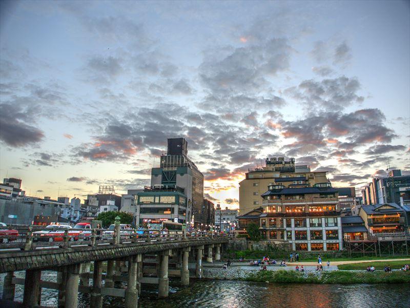 三条大橋夕景