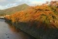 比叡山を望む@京都高野川