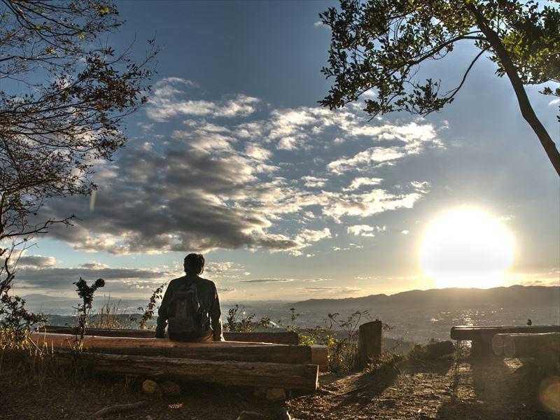 山頂の憩い@大文字山