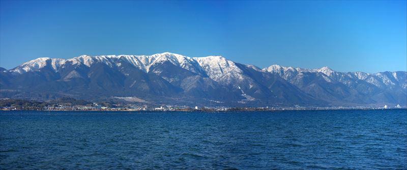 雪の比良山系