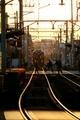 「ひえい」を見送る@叡山電鉄