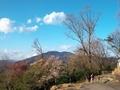 大文字山から見る比叡山