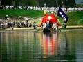 桂川を船で渡る@松尾祭神幸祭