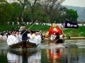 御輿も人も船で@松尾祭神幸祭