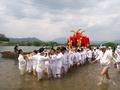 松尾祭神幸祭船渡御上陸