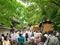 新緑の中の神輿列@京都御苑