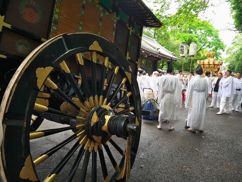 牛車と神輿@京都御苑