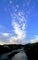 立ち上がる雲@高野川