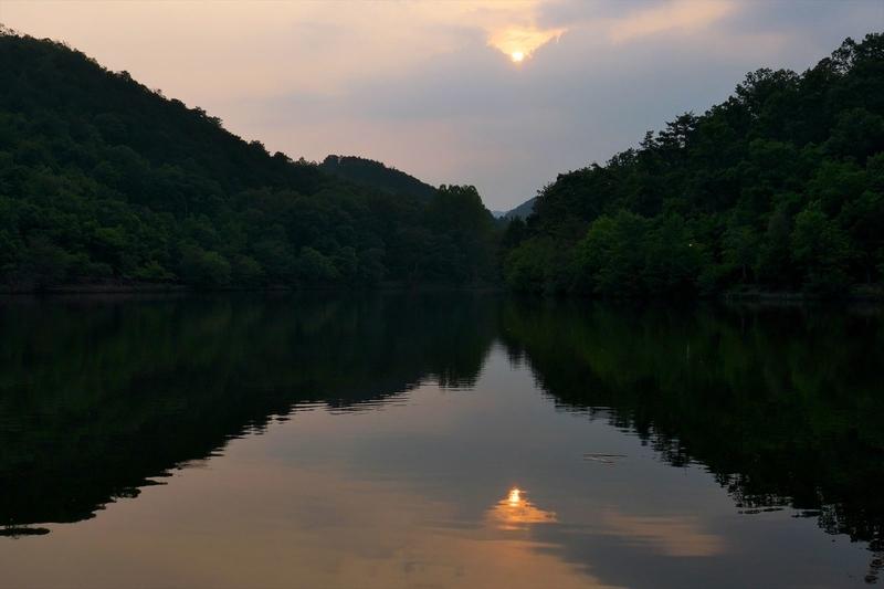 静かな湖面@宝ヶ池