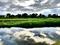 賀茂川を飛ぶサギ