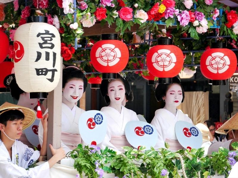 宮川町の綺麗どころ@祇園祭花笠巡行