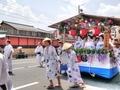 祇園一力亭の前を行く花笠巡行2