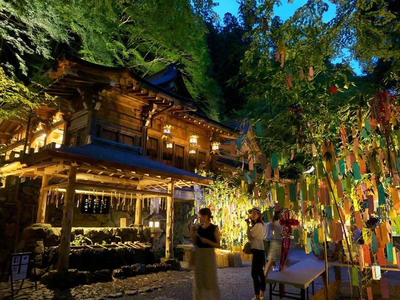 貴船神社の七夕ライトアップ