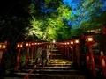 夜の貴船神社参道
