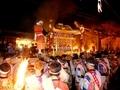 御旅所に入る御神輿@鞍馬火祭り