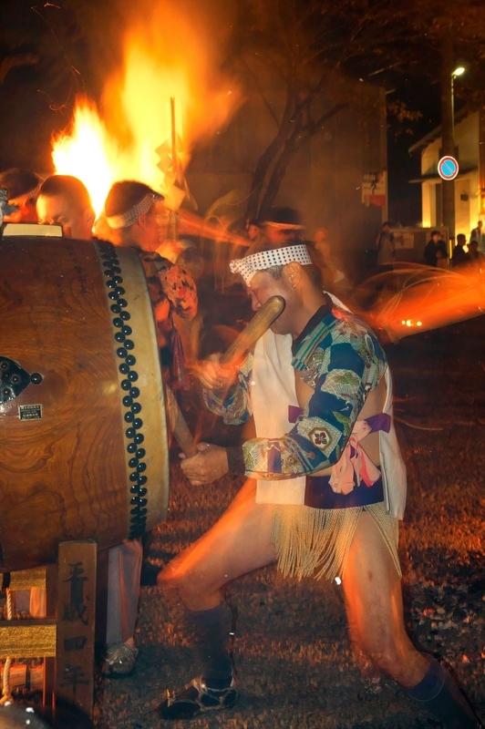 響く太鼓@鞍馬火祭り