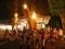 神楽松明を立てる@鞍馬火祭り