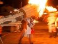 熱と重さに耐えて@鞍馬火祭り