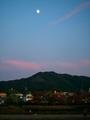 大文字山に昇る十三夜月@出町柳